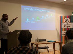 WordPress for Business event, CJ Andrew's talk, WPGlasgow Nov 2017